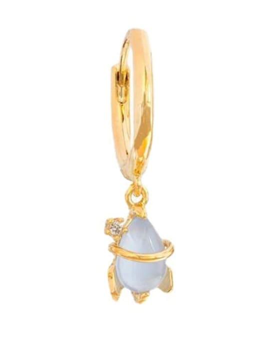 18K Gold rocket Brass Cubic Zirconia Irregular Minimalist Drop Earring
