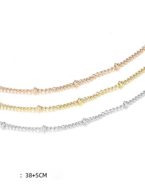 Desoto Stainless steel Round Minimalist Multi Strand Necklace 2