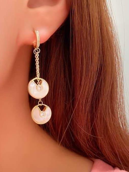 OUOU Brass Shell Geometric Minimalist Drop Earring 2