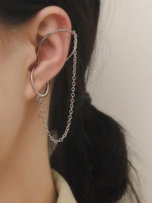 HYACINTH Brass Geometric Minimalist Clip Earring 2