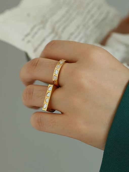 ACCA Titanium Steel Shell Geometric Minimalist Band Ring 1