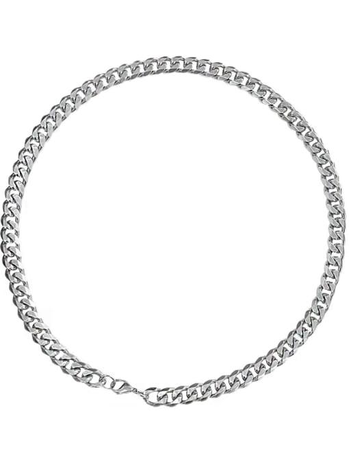 HYACINTH Titanium Steel  Hollow Geometric  Chain  Vintage Necklace 3