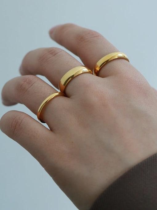 Five Color Titanium Steel Round Minimalist Band Ring 1
