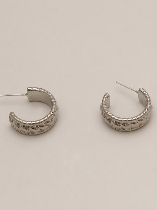 HYACINTH Brass Geometric Ethnic Stud Earring 4