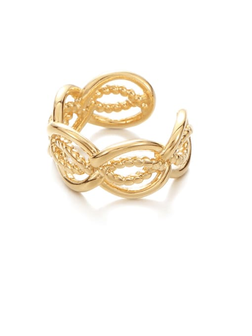 Hollow out ring (not adjustable) Brass Hollow Geometric Vintage Band Ring