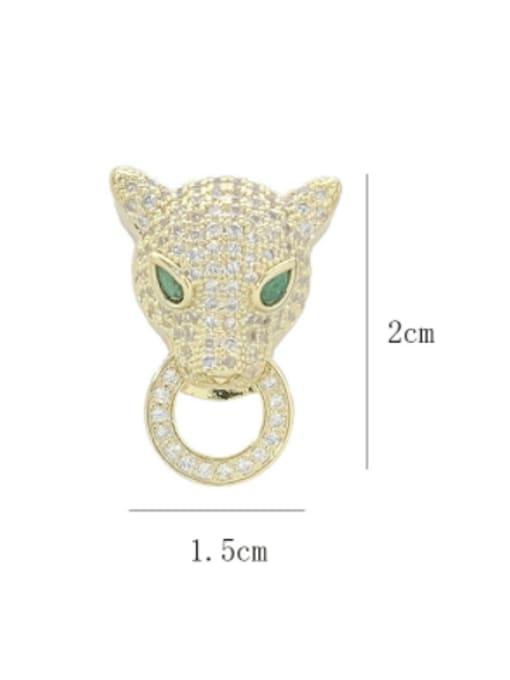 SUUTO Brass Cubic Zirconia Leopard Luxury Stud Earring 2