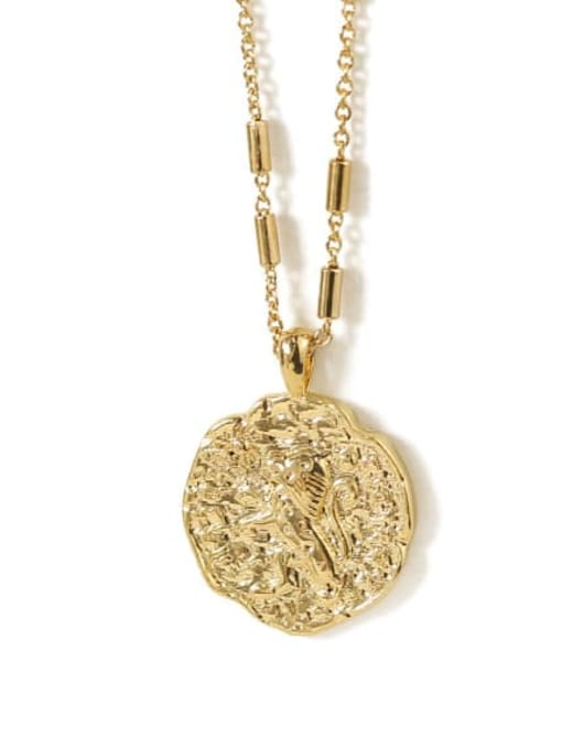ACCA Brass Geometric Vintage  pendant Necklace 3