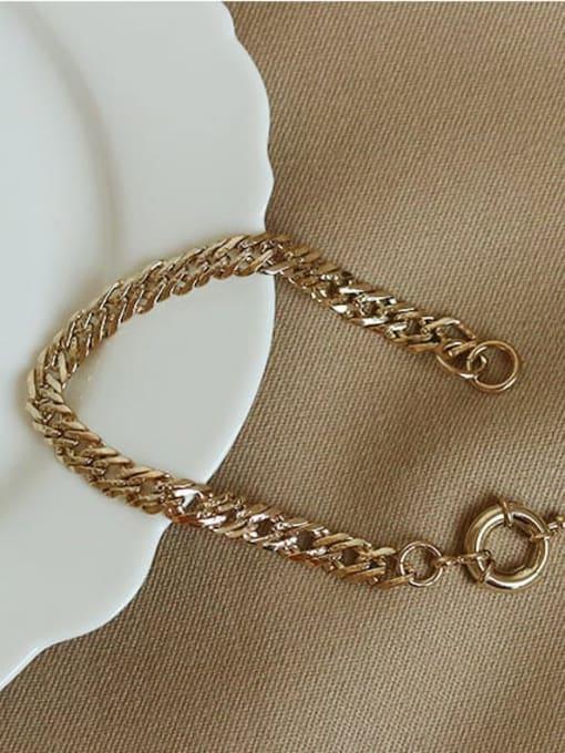 ACCA Brass  Hollow Geometric Vintage  Simple and versatile chain bracelet 0