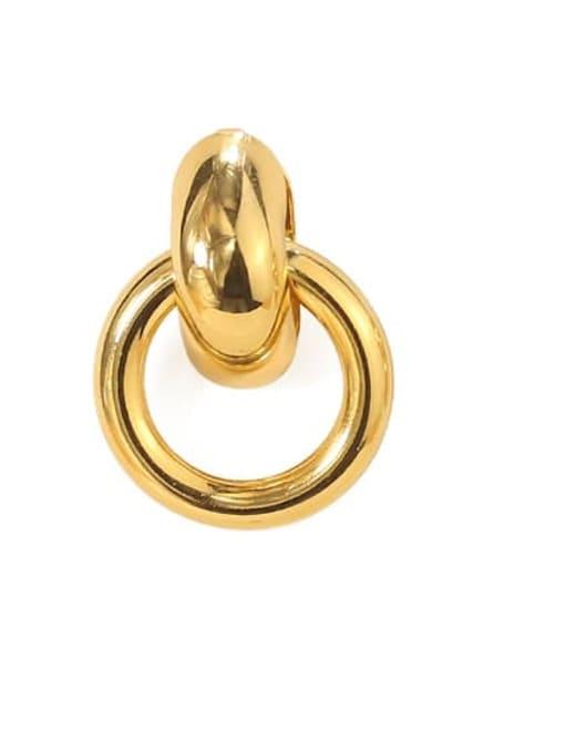 gold Brass Hollow Geometric Vintage Drop Earring