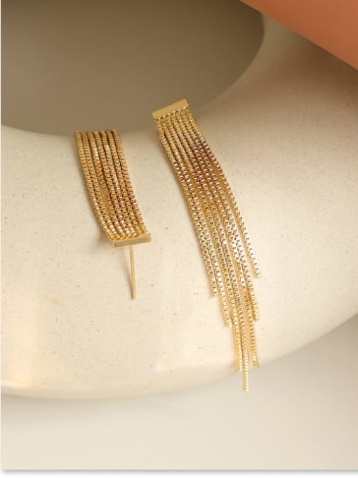 Five Color Brass Tassel Trend Threader Earring 2