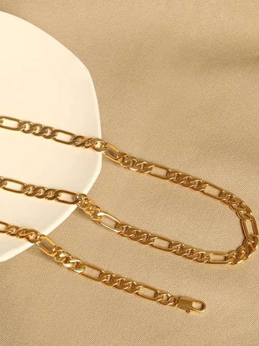 ACCA Brass Geometric Vintage Hollow chain Choker Necklace 2