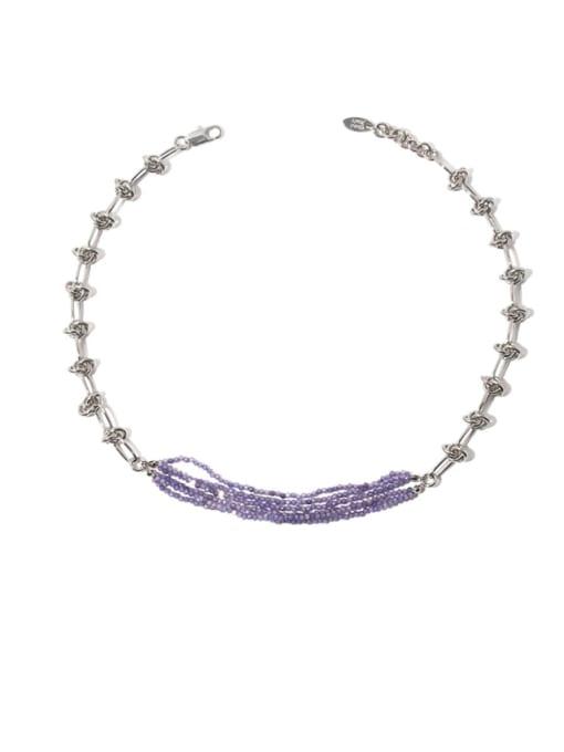 Necklace Brass Bead Geometric Vintage Multi Strand Necklace