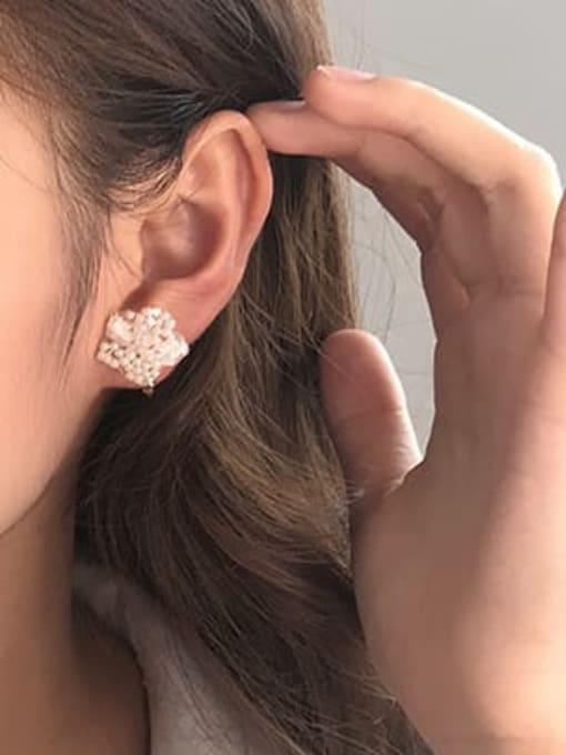 Five Color Alloy Enamel Flower Cute Stud Earring 1