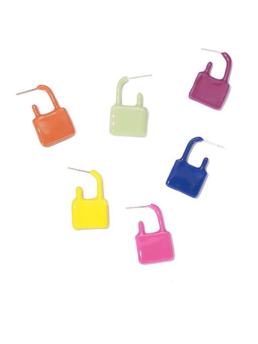 ACCA Zinc Alloy Enamel Locket Minimalist Single Earring 0