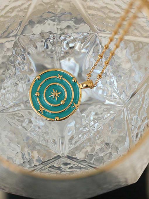 ACCA Brass Enamel Geometric Hip Hop Necklace 2