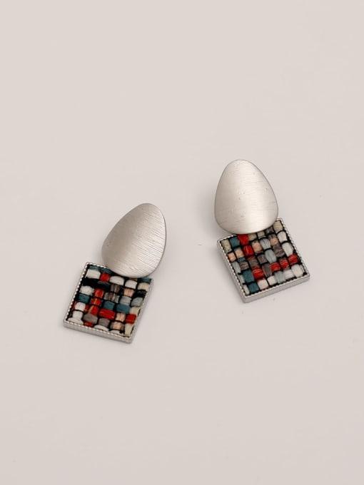 HYACINTH Brass Geometric Vintage Drop Earring 2