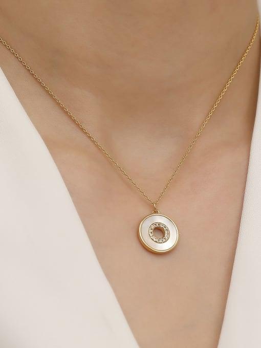 HYACINTH Brass Shell Geometric Minimalist Trend Korean Fashion Necklace 1