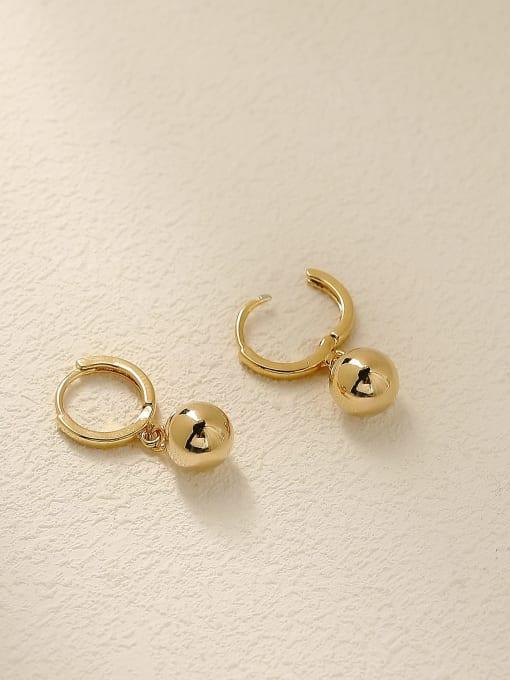 HYACINTH Brass Round Minimalist Huggie Earring 3