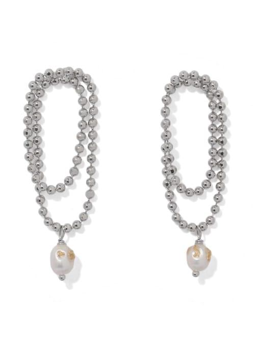 ACCA Brass Bead Tassel Vintage Drop Earring
