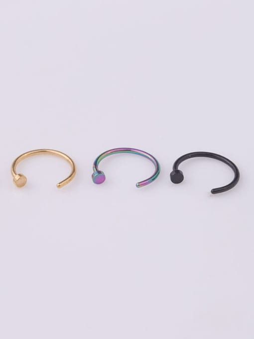 HISON Stainless steel Geometric Minimalist Nose Rings 3
