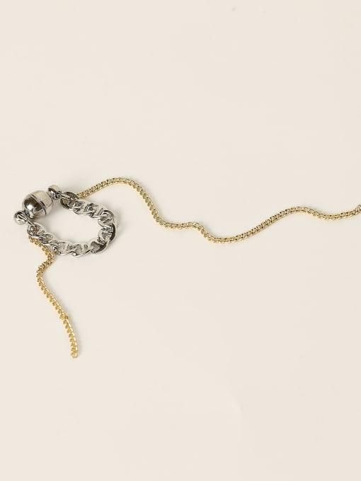 14K gold+white K Brass Tassel Vintage Single Earring