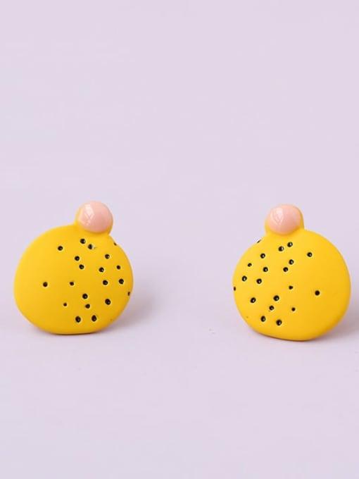 Five Color Alloy Enamel Geometric Minimalist Stud Earring 3