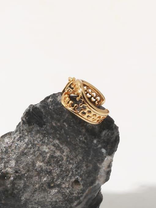 TINGS Brass Hollow Irregular Vintage Single Earring 2