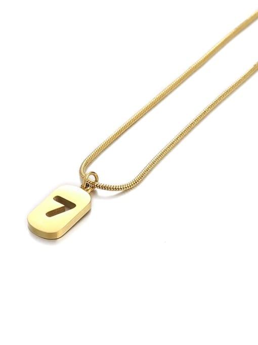 Number 7 Titanium Steel Number Minimalist Pendant Necklace