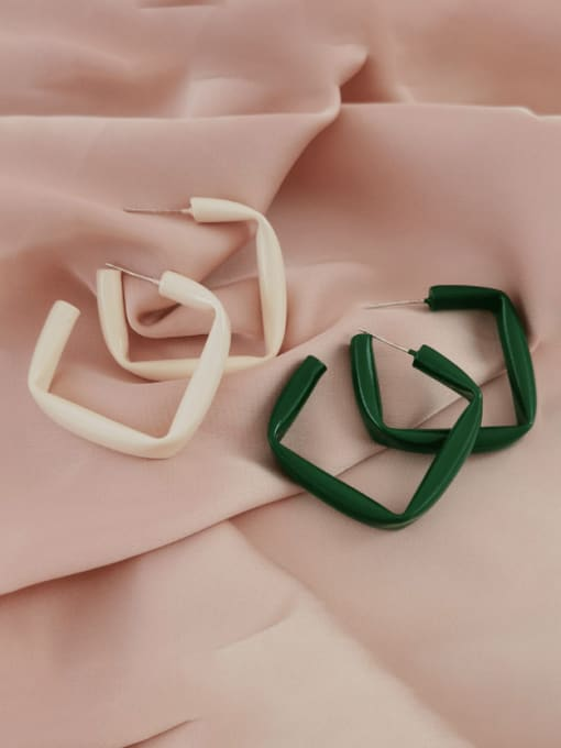 HYACINTH Brass Enamel Geometric Minimalist Stud Earring 0