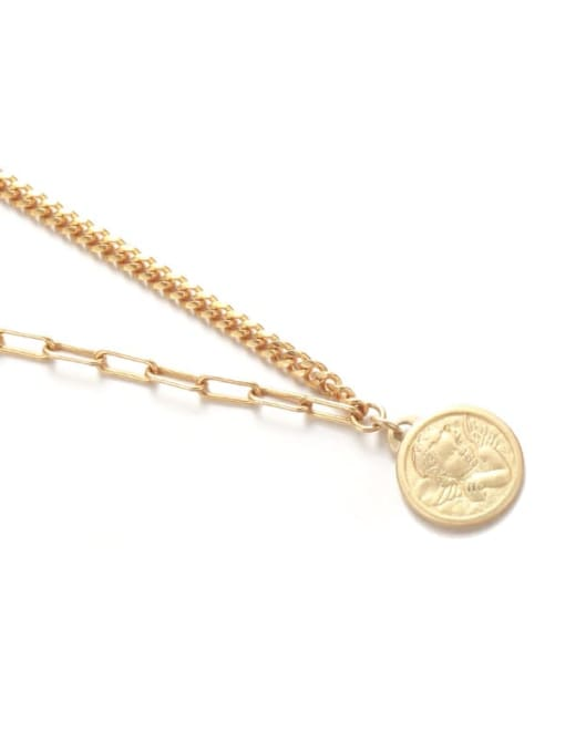Five Color Brass Angel Vintage Hollow Chain Necklace 3