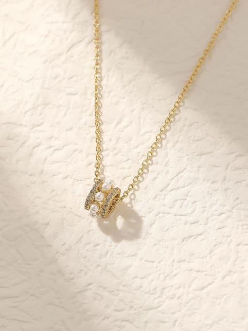 HYACINTH Brass Cubic Zirconia Geometric Vintage Trend Korean Fashion Necklace