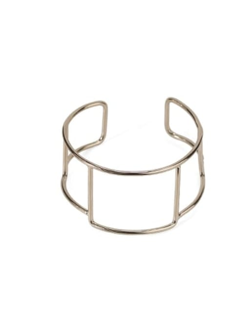 Square line Brass  Vintage Geometric chain vintage twist  Cuff Bangle