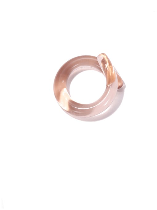 Light pink ring Coloured Glaze Geometric Minimalist Band Ring