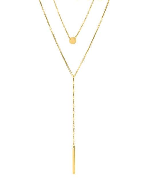 Desoto Stainless steel Tassel Minimalist Multi Strand Necklace 0