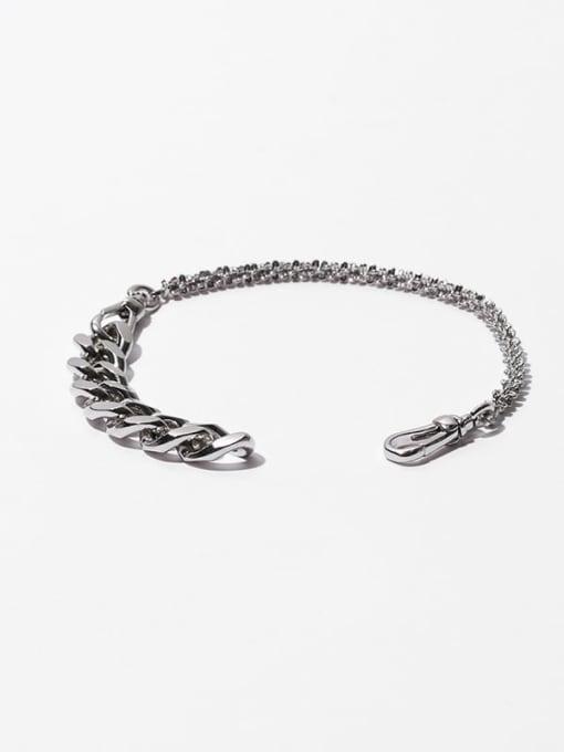 removable Brass Geometric  Hollow Chain Hip Hop Link Bracelet