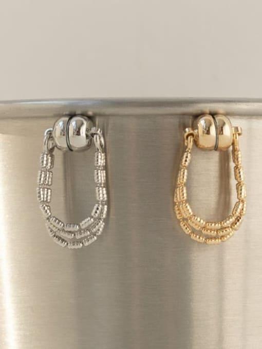 ACCA Brass Bead Tassel Vintage Single Earring