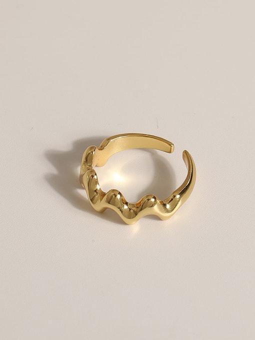 JZ102 Brass Geometric Vintage Band Ring