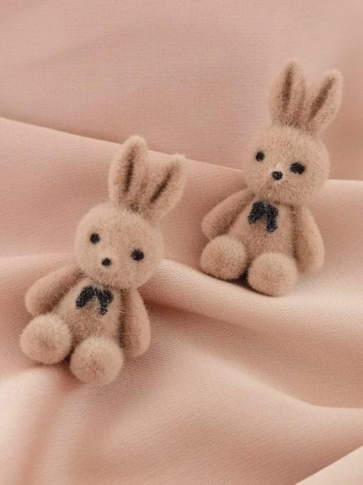 HYACINTH Brass Rabbit Cute Stud Earring
