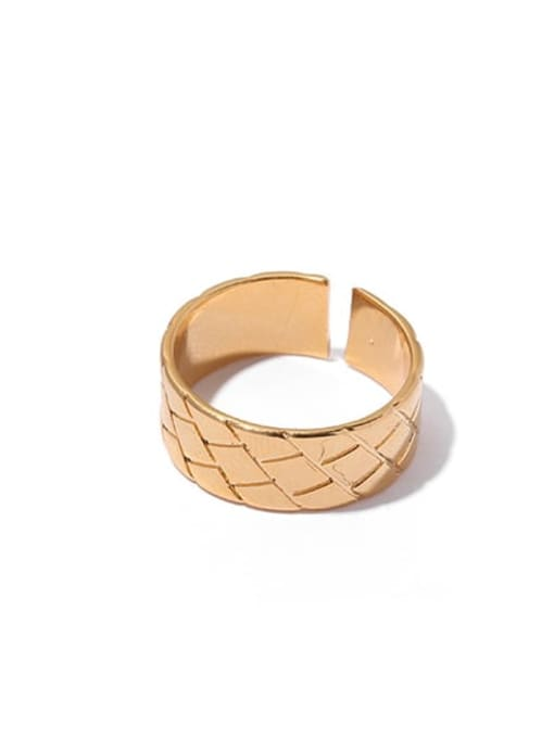 1 Brass Geometric Vintage Band Ring