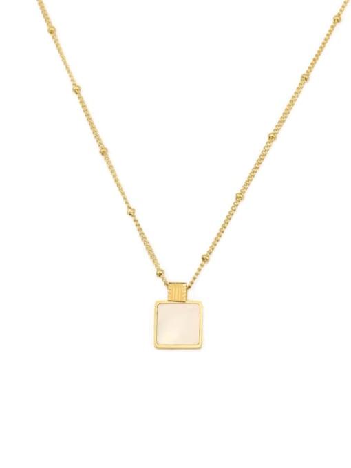 ACCA Brass Shell Geometric Vintage pendant Necklace