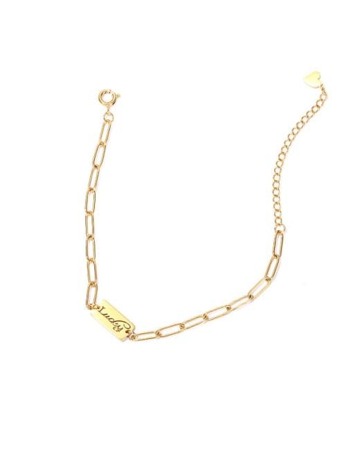 ACCA Titanium Steel Letter Minimalist Link Bracelet