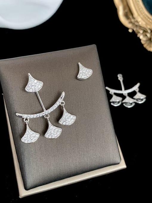 SUUTO Brass Cubic Zirconia Geometric Trend Stud Earring 2