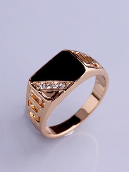HISON Zinc Alloy Enamel Triangle Vintage Band Ring 1