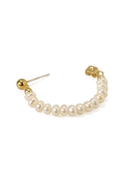 ACCA Brass Freshwater Pearl Geometric Vintage Chandelier Earring 3