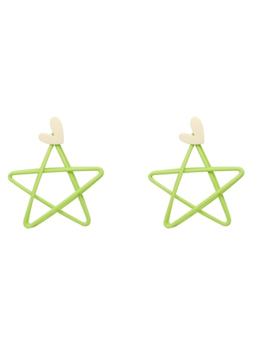 HYACINTH Copper Enamel Star Minimalist Stud Earring