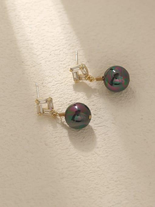 HYACINTH Brass Imitation Pearl Geometric Vintage Drop Trend Korean Fashion Earring 3