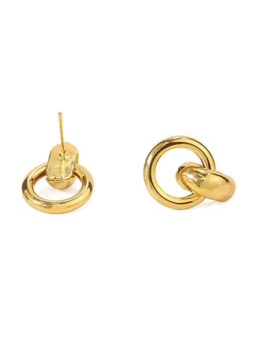 ACCA Brass Hollow Geometric Vintage Drop Earring 3