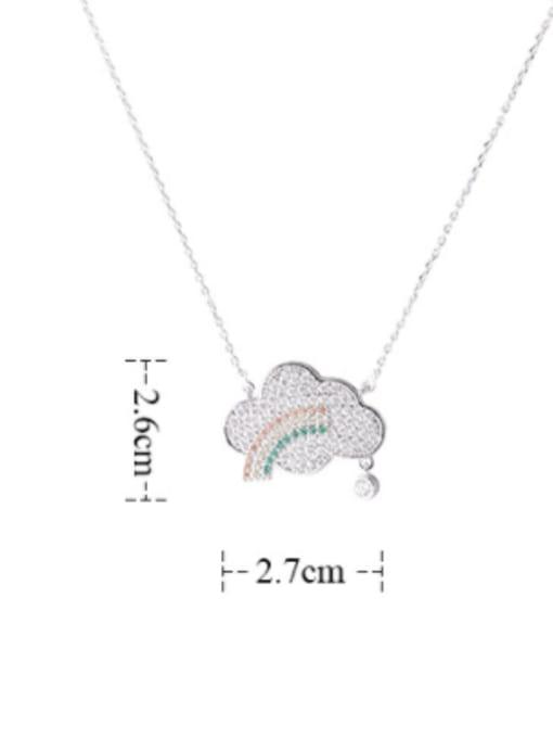 YILLIN Brass Cubic Zirconia Cloud Minimalist Necklace 3