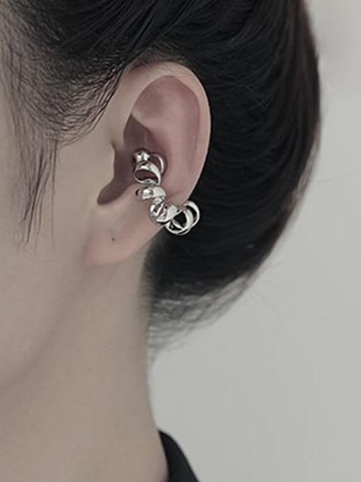 TINGS Brass Geometric Hip Hop Single Earring 1