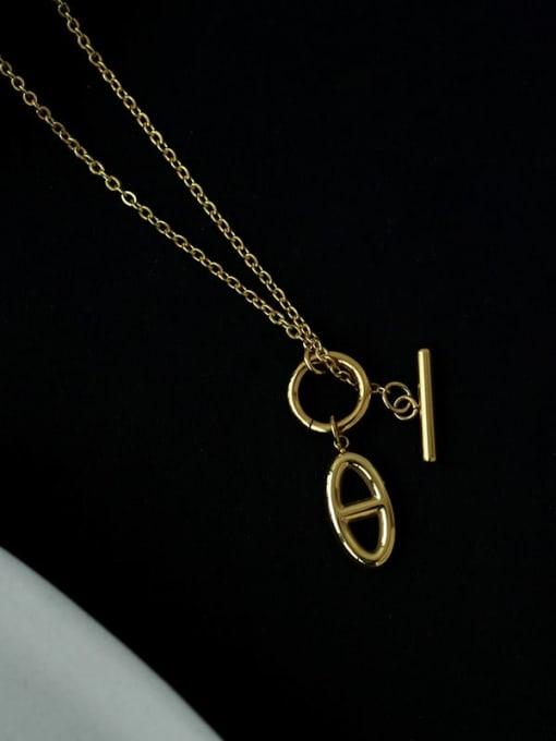 Five Color Brass Hollow Geometric Minimalist Necklace 2